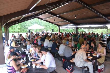 The Education Center picnic pavillion