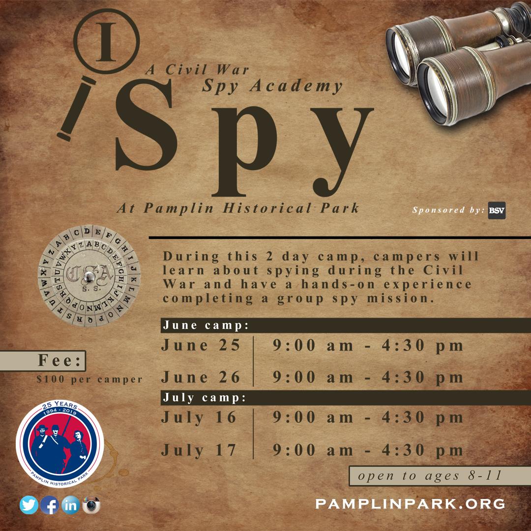 I Spy: A Civil War Spy Academy - Pamplin Historical Park